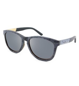 Grey/Black Maple Wooden Sunglasses - Unisex