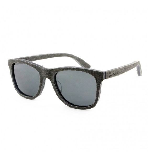 Black Denim Wooden Sunglasses