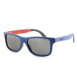 Blue/Black/Orange Skateboard Sunglasses - Men
