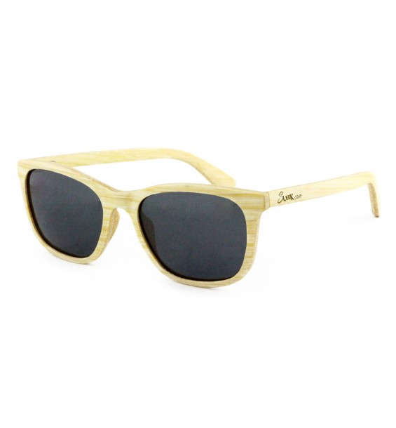 Natural Bamboo Wooden Sunglasses - Unisex