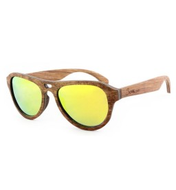 Rose Laminated Wooden Sunglasses - Unisex