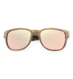 Walnut Wooden Sunglasses with Rose Gold Lens - Ladies