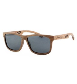 Rose Laminated Wooden Sunglasses with grey Lens - Men