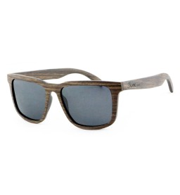 Dark Theo Square Wooden Sunglasses - Unisex