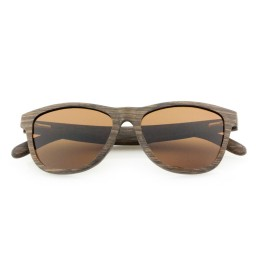 Theo Laminated Wood Brown Polarized Lens