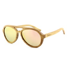 Zebra Wooden Sunglasses - Ladies