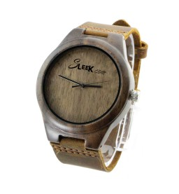 Walnut and Leather Strap - Unisex
