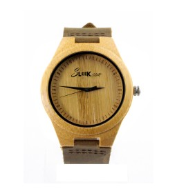 Carbonized Bamboo with Leather Strap - Unisex