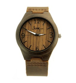 Walnut Face with Ebony Wood Dial - Unisex